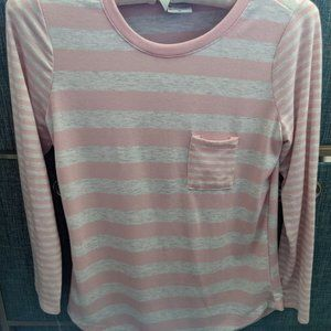 Poof Girl Pink Comfort Tops Long Sleeve Size XL